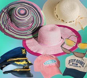 hats and sunglasses